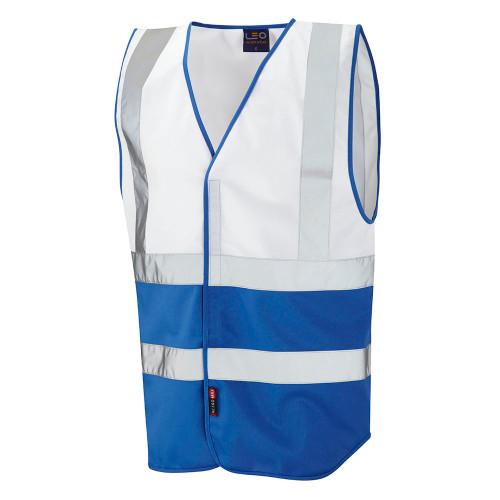 Leo Pilton Two-Tone Reflective Vest - White (W05-WH/RO)