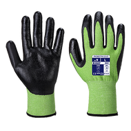 Portwest Traffic Light Green Cut-5 PU Palm Gloves