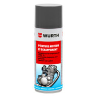 Wurth Heatproof Spray Paint Matt Black 400ml - 0893359005