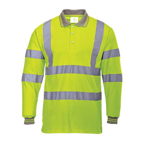 Hi-Vis Long Sleeved Polo Shirt (S277)