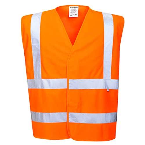 Bizflame FR Hi-Vis Two Band & Brace Vest (FR75)