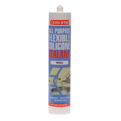 Evo-Stik All Purpose Flex Silicone Sealant White C20 (EVOAPFSSW)