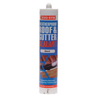 Evo-Stik Waterproof Roof & Gutter Sealant Black C20 (EVOWRGSB)
