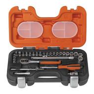 "Bacho 1/4"" Socket Set - 29 pc Metric (BAHS290)"