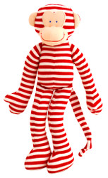 Monkey Rattle - Red Stripe (30cm)