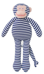 Musical Monkey - 34cm Navy Stripe 'Let It Be'