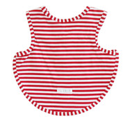 Bib - Arm Holes Back Fastening Red