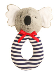 Koala Grab Rattle 16cm - Navy