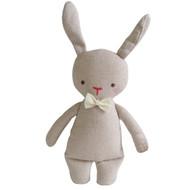 Linen Mini Rattle 18cm Bunny