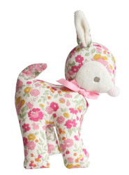 Baby Deer Rattle 16cm Rose Garden