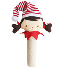 Cheeky Elf Girl Squeaker/Rattle Linen