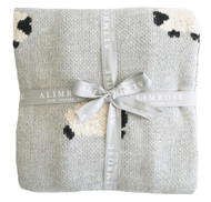 Baa Baa Blanket Organic Cotton - Grey 100cm x 70cm