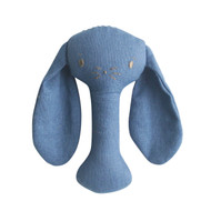 Bobby Bunny Stick Rattle Chambray Linen