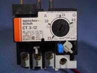 Sprecher + Schuh (CT3-4.0) CT3-12, 2.5 to 4.0 Amp Overload Relay, New Surplus