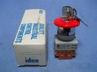 IDEC/AXW (AXW401-R) Heavy Pilot Duty Key Switch, New Surplus