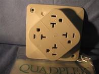 Bryant Quaplex Recepticles (1254-W) 2 Pole, 3 wire, 15 amp, 125V Grnd UL listed