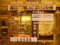 Idec / Izumi Denki (RTM-SP1C-6M6A120) Motor Driven Timing Relay, New Surplus