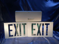 Emergi Lite (WSMX14G) Exit Sign, New Old Surplus