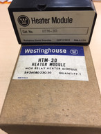 Westinghouse (HTM-30) MOR Relay Heating Module, 2608D23G30, New in box