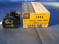 Allen Bradley (1495-G0) Series L, N.C. Contact-Early Break, New Surplus