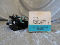 Potter Brumfield (PRD11AY0-240 DPDT) 25A 240V AC Relay 50/60 Hz. New in Box