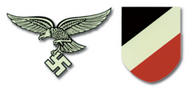 Luftwaffe Early German Helmet Decal