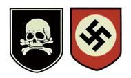 SS Totenkopf German Helmet Decal