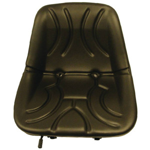"Tractor Seat, 15"" Low Back Bucket Style Seat, Metal Pan with Drain and Slide Adjustment Base"