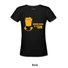 V-Neck Womens T-Shirt (Giving Head is a Sin)