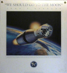 2001 Go To The Moon Poster