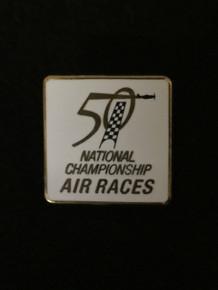 2013 50th Anniversary White Square Pin