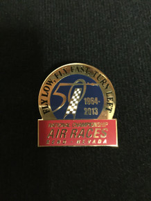 2013 50th Anniversary, Fly Low Fly Fast Turn Left Pin