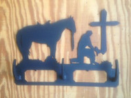 Praying Cowboy Coat / Hat Rack