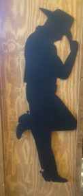 Cowboy or Cowgirl Silhouettes