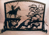 Native American Scene Fireplace Screen