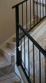 Staircase Hammered Rails
