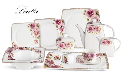 Lorenzo Loretta 57 Pc. Dinnerware Set