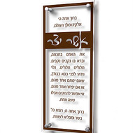 Lucite Asher Yatzar- Traditional (Brown)
