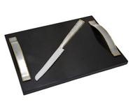 Godinger Golden Frost Challah Board w/ Knife
