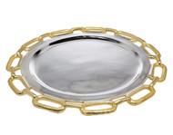 Godinger Gold Chain Border Charger Platter (82730)