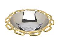 Godinger Gold Chain Border Round Bowl (82734)