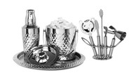 9 Pc. Stainless Steel Bar Set w/ Pineapple Design (SBS888)
