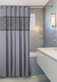 Brushed Nickel Shower Curtain (CBN-44322)