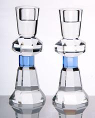 Crystal Candlestick Set - Blue (1653B)