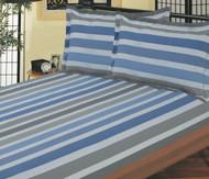 Blue & Grey Stripe Linen Set