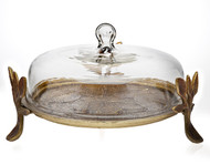 Godinger Laurel Covered Cake Platter
