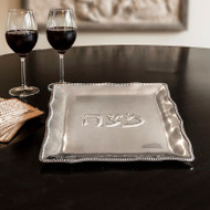 Beatriz Ball Matza Plate with Pearls