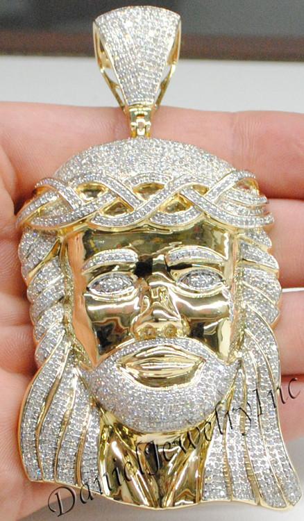 Jesus piece face yellow 14k 643ct diamonds image 1 aloadofball Image collections