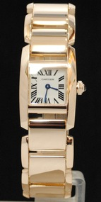 Mint Cartier Tankissime Rose 18k Solid Gold Ladies Watch Mid-Size 20mm Beautiful