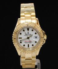 Rolex Ladies Watch YachtMaster MONTRE SWISS Rolex 169628 White 18k Gold 29mm MINT